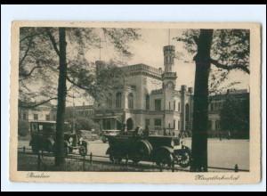 XX007484/ Breslau Hauptbahnhof Autos AK 1931 Schlesien