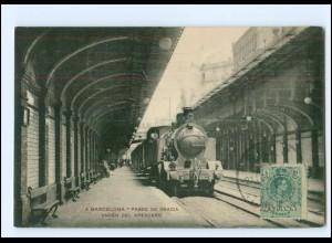 XX007493/ Barcelona Paseo de Gracia.... Bahnhof Eisenbahn AK 1914