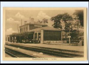 XX007490/ Neufchatel-en-Bray La Gare Bahnhof AK 1942 -762-