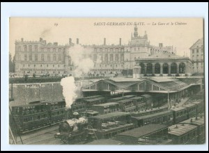 XX007489/ Saint-Germain-en-Laye La Gare Bahnhof Eisenbahn AK -781-