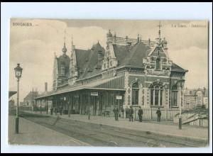 XX007488/ Soignies Belgien La Gare Bahnhof 1915