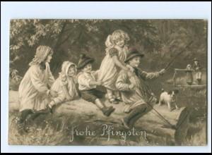 XX006742/ Pfingsten Kinder Hund AK ca.1910