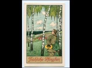 XX006961/ Pfingsten Wandern ca.1912 Litho AK
