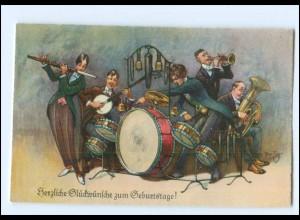 XX006754/ Arthur Thiele AK Geburtstag Musikkapelle ca. 1930