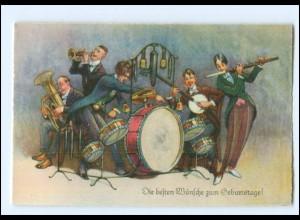 XX006755/ Arthur Thiele AK Geburtstag Musikkapelle ca. 1930