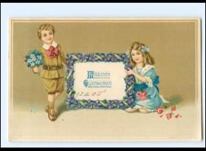 XX006919/ Geburtstag Kinder Blumen 1913 Litho Prägedruck AK