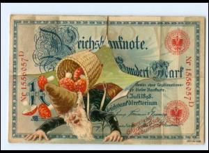 XX006751/ Geburtstag Geldschein Zwerge Pilze Litho Ak 1907