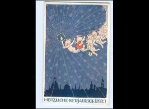 XX006779/ Neujahr Engel schöne Künstler AK 1918