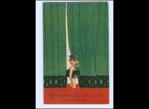 XX006424/ Geburtstag Amor als Briefträger Litho AK 1919