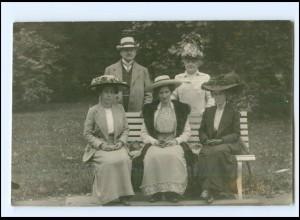 Y14377/ Stadthagen Frauen mit Hut schöne Foto AK 1911