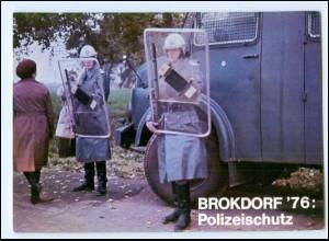Y14390/ Brokdorf Demonstration gegen Atomkraftwerk , Polizei 1976