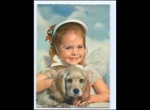 Y14394/ Mädchen mit Cocker Spaniel Hund AK ca.1965