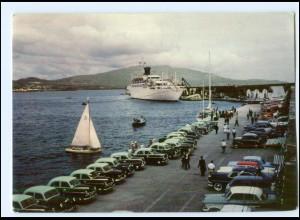 Y14347/ Ponta Delgada Azoren Hafen Dampfer Autos AK ca. 1960-65
