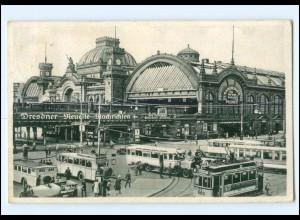 XX006978-01./ Dresden Hauptbahnhof Straßenbahn 1932 AK