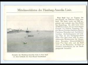 XX008921/ Port-Said Ägypten Hamburg-Amerika-Linie Ak ca.1910