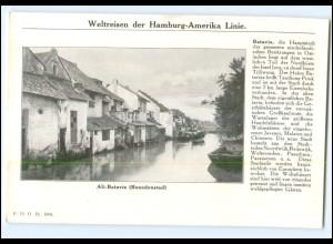 XX10188/ Batavia Indonesien Dampfer Cleveland Hamburg Amerika-Linie AK 1912