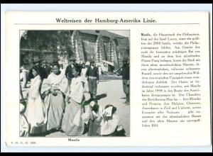 XX008640/ Manila Philippinen - Dampfer Cleveland Hamburg Amerika-Linie AK 1912