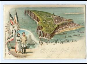 XX006966/ Gruß aus Helgoland 1903 Litho AK