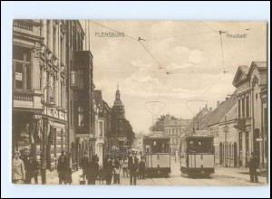 XX007045/ Flensburg Neustadt Straßenbahn 1912 AK