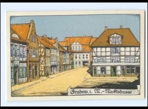 XX006909-193/ Grabow Marktstraße Litho Ak ca.1920