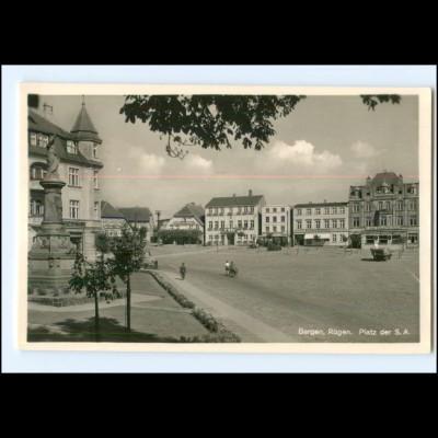 XX006908/ Bergen auf Rügen Platz der ... Foto AK ca.1938