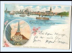 XX007014-18./ Gruß aus Rostock Steintor 1898 Litho AK
