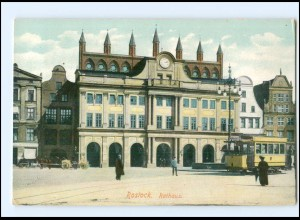 XX007013-18./ Rostock Rathaus Straßenbahn AK