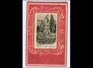 XX006895/ Lübeck Geibel-Denkmal Prägedruck AK 1901 Jugendstil