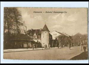 XX007379-168./ Neuruppin Bahnhof Rheinsberger-Tor 1926 AK