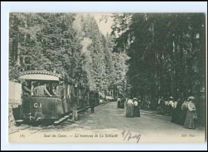 XX009235/ Saut des Cuves - Tramway de la Schlucht Elsaß AK ca.1910 Straßenbahn