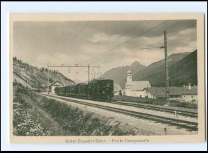 XX008648/ Unter-Engadin-Bahn Ponte-Campovasto Eisenbahn Schweiz AK ca.1912