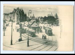 XX007788/ Nürnberg Plärrer Straßenbahn ca.1900 AK