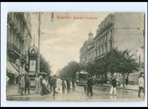XX009125/ Bukarest Bucuresti Straßenbahn AK Rumänien 1911