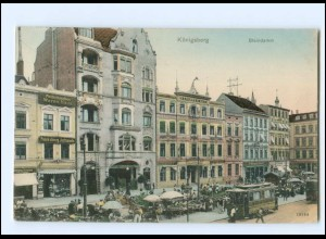 XX007611/ Ostpreußen Königsberg Steindamm Straßenbahn 1909 AK