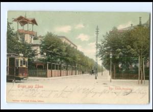 XX007759/ Lettland Libau Ulich-Straße Straßenbahn 1905 AK