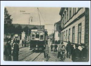 XX007760/ Lettland Libau Kaufstraße Straßenbahn AK