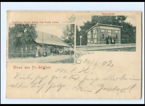 XX14728/ Preußisch-Ströhen bei Rahden Haltestelle Bahnhof AK 1902