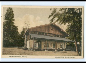 XX007909/ Bad Freienwalde Wanderhütte Uchtenhagen 1927 AK
