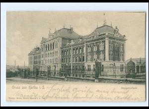XX007803/ Gruß aus Hartha Bürgerschule 1906 AK