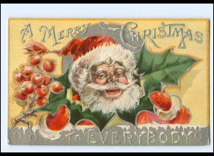 XX007698/ Weihnachtsmann Santa Claus Merry Christmas LItho Präge AK ca.1910