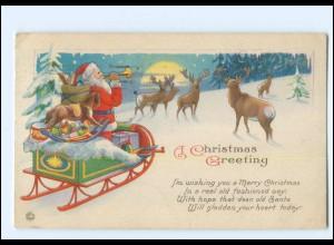 XX007693/ Weihnachtsmann Santa Claus Merry Christmas AK 1921