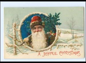 XX007690/ Weihnachtsmann Jouyful Christmas Litho Prägedruck AK 1908