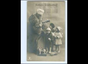 XX007676/ Weihnachtsmann Kinder Spielzeug Foto AK ca.1910