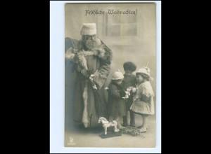 XX007677/ Weihnachtsmann Kinder Spielzeug Foto AK ca.1910