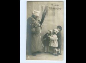 XX007674/ Weihnachtsmann mit Rute Kinder Spielzeug Foto AK ca.1910