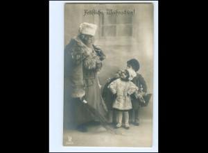 XX007675/ Weihnachtsmann mit Rute Kinder Spielzeug Foto AK ca.1910