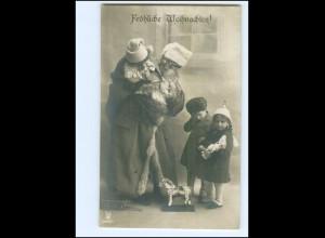 XX007678/ Weihnachtsmann Kinder Spielzeug Foto AK ca.1910