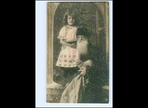 XX007672/ Weihnachtsmann mit Mädchen Weihnachten NPG Foto AK 1908