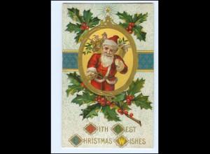 XX007669/ Weihnachtsmann Santa Claus Christmas Litho Prägedruck AK ca.1910