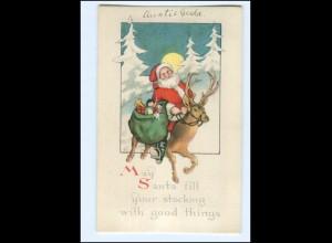 XX007666/ Weihnachtsmann Santa Claus AK ca.1925 Christmas